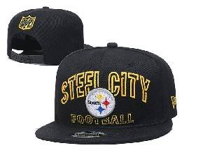 Mens Nfl Pittsburgh Steelers Black Team Patch City Name Snapback Adjustable Flat Hats