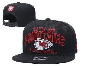 Mens Nfl Kansas City Chiefs Black Team Patch City Name Snapback Adjustable Flat Hats