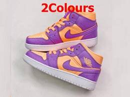 Women Nike Air Jordan 1 Mid Running Shoes 2 Colors
