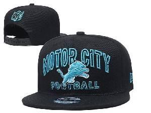 Mens Nfl Detroit Lions Black Team Patch City Name Snapback Adjustable Flat Hats