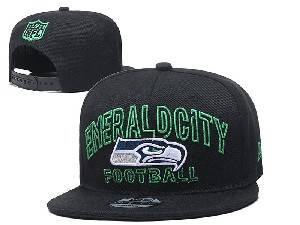 Mens Nfl Seattle Seahawks Black Team Patch City Name Snapback Adjustable Flat Hats