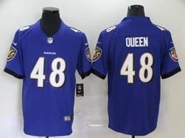 Mens Nfl Baltimore Ravens #48 Patrick Queen Purple Vapor Untouchable Limited Jerseys