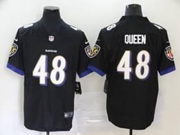 Mens Nfl Baltimore Ravens #48 Patrick Queen Black Vapor Untouchable Limited Jerseys