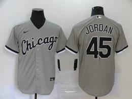 Mens Mlb Chicago White Sox #45 Michael Jordan Gray Cool Base Nike Jersey
