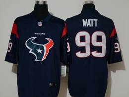 Mens Nfl Houston Texans #99 Jj Watt 2020 Blue Fashion Logo No Number On Front Vapor Untouchable Jerseys