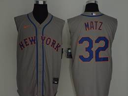 Mens Mlb New York Mets #32 Steven Matz Gray 2020 Refreshing Sleeveless Fan Cool Base Nike Jersey