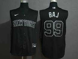 Mens Mlb New York Yankees #99 Baj (aaron Judge) Black 2020 Refreshing Sleeveless Fan Cool Base Nike Jersey