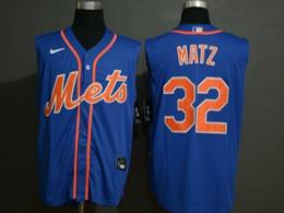 Mens Mlb New York Mets #32 Steven Matz Blue 2020 Refreshing Sleeveless Fan Cool Base Nike Jersey