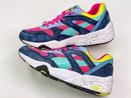 Mens And Women Puma R698 Block Running Shoes One Color