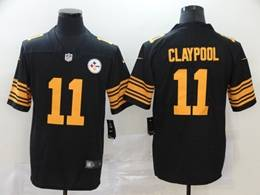 Mens Nfl Pittsburgh Steelers #11 Chase Claypool 2020 Black Color Rush Vapor Untouchable Limited Jersey