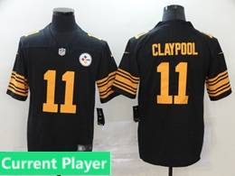 Mens Women Youth Nfl Pittsburgh Steelers 2020 Black Current Player Color Rush Vapor Untouchable Limited Jersey