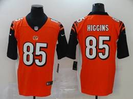 Mens Nfl Cincinnati Bengals #85 Tee Higgins 2020 Orange Vapor Untouchable Limited Jersey