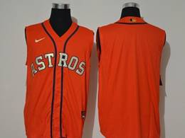 Mens Mlb Houston Astros Blank Orange 2020 Refreshing Sleeveless Fan Cool Base Nike Jersey