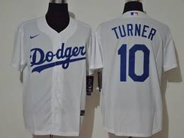 Mens Mlb Los Angeles Dodgers #10 Justin Turner White Cool Base Nike Jersey