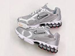 Mens And Women Stussy X Nike Air Zoom Spiridon Cage 2 Running Shoes Gray Color