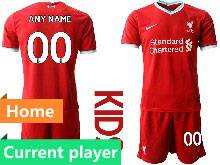 Youth 20-21 Soccer Liverpool Club Current Player Red Home Short Sleeve Suit Jersey