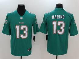 Mens Miami Dolphins #13 Dan Marino 2020 Green Vapor Untouchable Limited Jersey