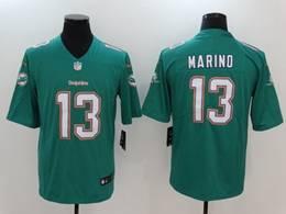 Mens Miami Dolphins #13 Dan Marino 2020 Green Vapor Untouchable Limited Jersey