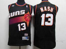 Mens Nba Phoenix Suns #13 Steve Nash Black Adidas Hardwood Classics Swingman Jersey