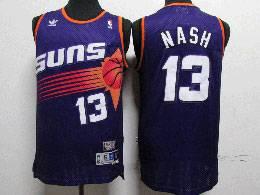 Mens Nba Phoenix Suns #13 Steve Nash Purple Adidas Hardwood Classics Swingman Jersey