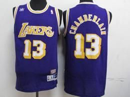 Mens Nba Los Angeles Lakers #13 Chamberlain Adidas Hardwood Classics Swingman Mesh Jersey