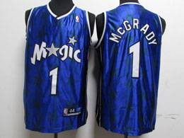 Mens Nba Orlando Magic #1 Mcgrady Blue Night Star Swingman Jersey