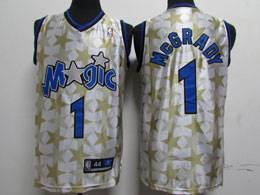 Mens Nba Orlando Magic #1 Mcgrady White Night Star Swingman Jersey