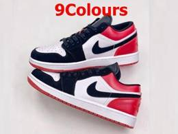 Mens And Women Nike Air Jordan 1 Low Running Shoes 9 Colors