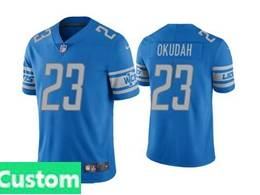 Mens Women Youth Nfl Detroit Lions 2020 Blue Custom Made Vapor Untouchable Limited Jersey
