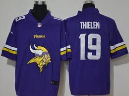 Mens Nfl Minnesota Vikings #19 Adam Thielen 2020 Purple Fashion Logo No Number On Front Vapor Untouchable Jerseys