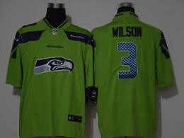 Mens Nfl Seattle Seahawks #3 Russell Wilson 2020 Green Fashion Logo No Number On Front Vapor Untouchable Jerseys