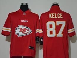 Mens Nfl Kansas City Chiefs #87 Travis Kelce 2020 Red Fashion Logo No Number On Front Vapor Untouchable Jerseys