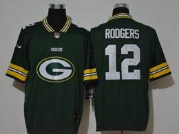 Mens Nfl Green Bay Packers #12 Aaron Rodgers 2020 Green Fashion Logo No Number On Front Vapor Untouchable Jerseys