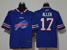 Mens Nfl Buffalo Bills #17 Josh Allen 2020 Blue Fashion Logo No Number On Front Vapor Untouchable Jerseys