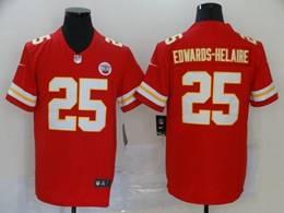 Mens Nfl Kansas City Chiefs #25 Clyde Edwards-helaire Red Vapor Untouchable Limited Jerseys