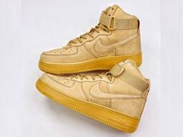 Mens And Women Nike Air Max Force 1 High Basketball Shoes Yellow Color