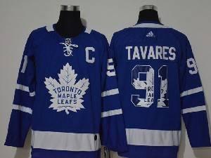 Mens Nhl Toronto Maple Leafs Leafs #91 John Tavares 2020 Team Logo Printing Adidas Jersey