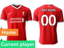Mens 20-21 Soccer Liverpool Club Current Player Red Home Thailand Short Sleeve Jersey