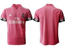 Mens 20-21 Soccer Real Madrid Club ( Custom Made ) Pink Away Thailand Short Sleeve Jersey