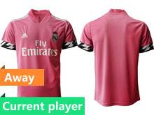 Mens 20-21 Soccer Real Madrid Club Current Player Pink Away Thailand Short Sleeve Jersey