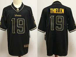 Mens Nfl Minnesota Vikings #19 Adam Thielen Black Golden Vapor Untouchable Limited Jersey