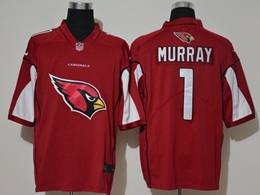 Mens Nfl Arizona Cardinals #1 Kyler Murray Red Fashion Logo No Number On Front Vapor Untouchable Jerseys