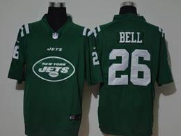 Mes Nfl New York Jets #26 Le'veon Green Fashion Logo No Number On Front Vapor Untouchable Jerseys