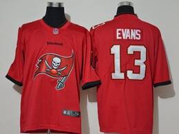 Mens Nfl Tampa Bay Buccaneers #13 Mike Evans 2020 Red Fashion Logo No Number On Front Vapor Untouchable Jerseys