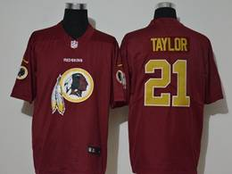 Mens Nfl Washington Redskins #21 Sean Taylor Red 2020 Fashion Logo No Number On Front Vapor Untouchable Jerseys