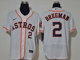 Mens Mlb Houston Astros #2 Alex Bregman White Flex Base Nike Jersey