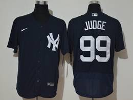 Mens Mlb New York Yankees #99 Aaron Judge Dark Blue Flex Base Nike Jersey