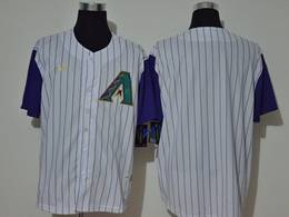 Mens Mlb Arizona Diamondbacks Blank 2020 White Stripe Cool Base Nike Jersey