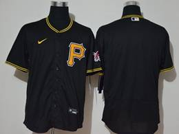 Mens Mlb Pittsburgh Pirates Blank Black Flex Base Nike Jersey