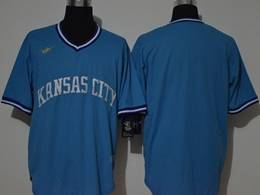 Mens Mlb Kansas City Royals Blank 2020 Blue Pullover Cool Base Nike Jersey